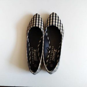 Streetwear Society Black-Beige Checkered Flats